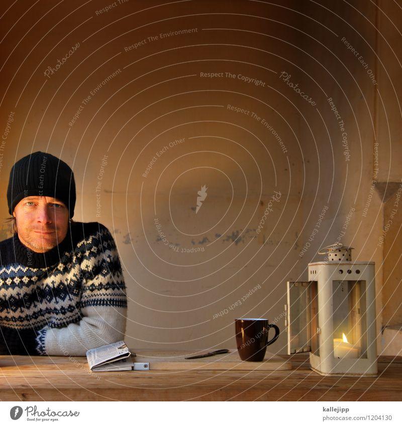 ohne moos nix los Lifestyle Ferien & Urlaub & Reisen Häusliches Leben Wohnung Haus Möbel Lampe Tisch Mensch maskulin Mann Erwachsene Kopf 1 45-60 Jahre Pullover