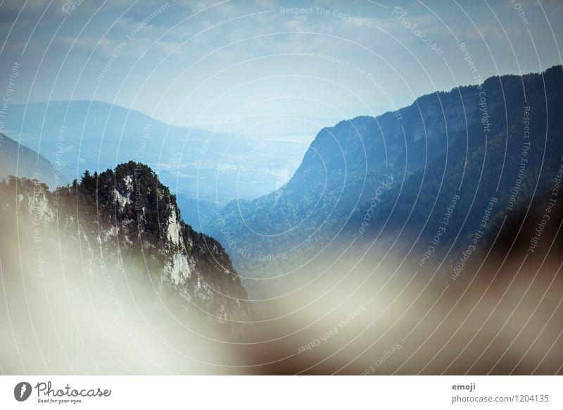 blue Natur blau Sommer Landschaft Berge u. Gebirge Umwelt natürlich Schönes Wetter Hügel