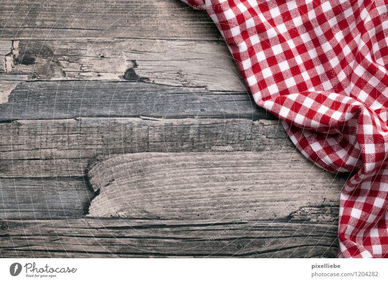 Tischlein deck dich Picknick Wohnung einrichten Innenarchitektur Dekoration & Verzierung Küche Restaurant Essen Gastronomie Stoff Holz braun rot weiß