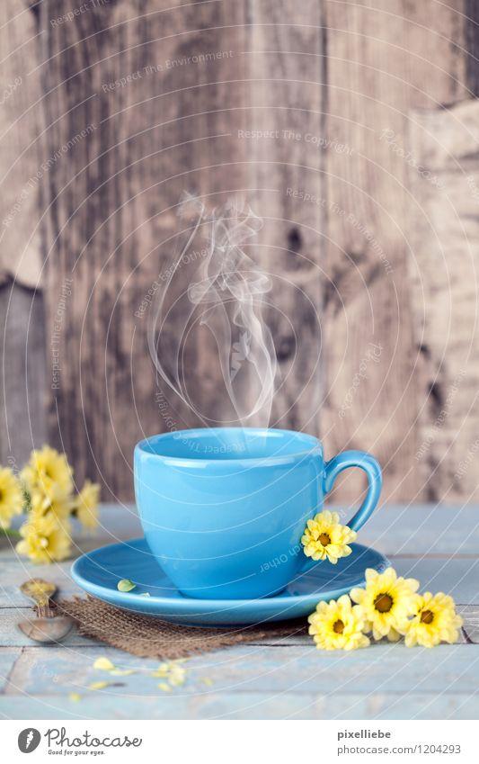 Guten Morgen... Tee oder Kaffee? Frühstück Getränk Heißgetränk Kakao Espresso Geschirr Tasse Besteck Löffel Gesundheit Gesunde Ernährung Wellness