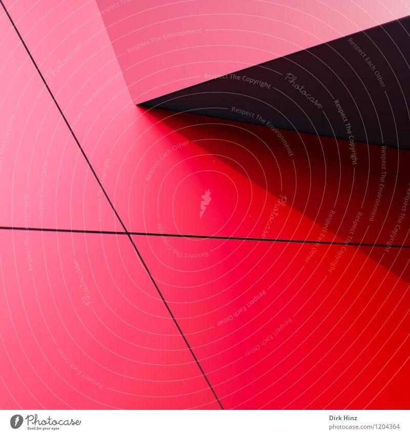 Red Corners Stadt schön rot schwarz Wand Architektur Wege & Pfade Gebäude Mauer Linie Kunst Fassade Business Design elegant Ordnung