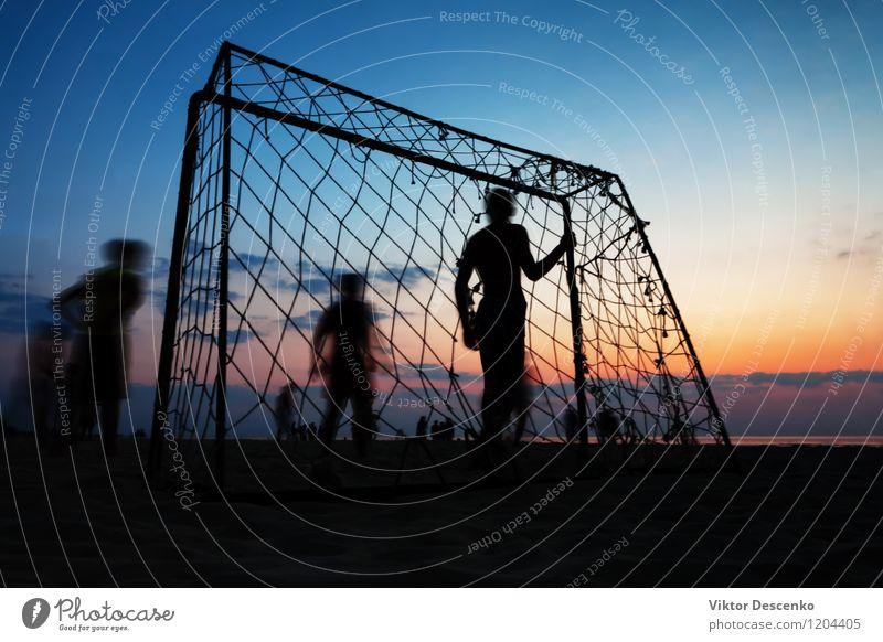 Himmel Jugendliche Mann Sommer Sonne Meer Landschaft Freude 18-30 Jahre Strand Erwachsene Junge Küste Sport Spielen Lifestyle