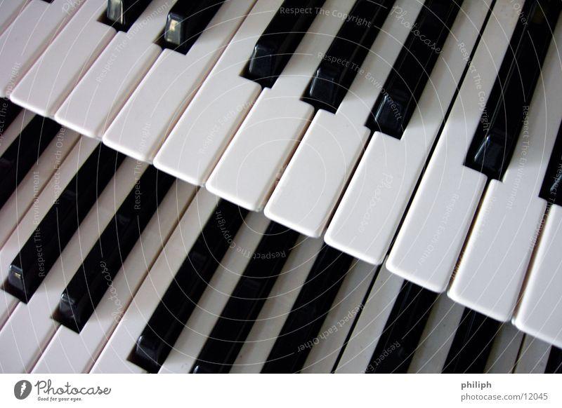 DoppelOrgel 2 Klavier Organ Klaviatur Konzert Dinge Kunst Kunsthandwerk doppel keys Schwarzweißfoto Doppelbelichtung