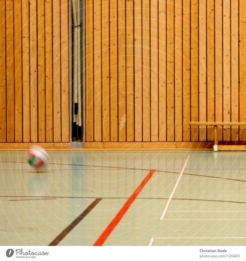 Matchball Sporthalle Wand Holzwand Bank Turnen Leichtathletik Sportveranstaltung Korb Konstruktion Lampe Freizeit & Hobby Ballsport Architektur Mehrfachhalle