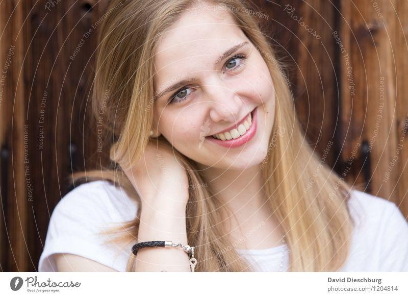 Zufrieden Mensch Kind Jugendliche Junge Frau 18-30 Jahre Erwachsene Gesicht Auge feminin Glück Kopf Zufriedenheit 13-18 Jahre authentisch blond Erfolg