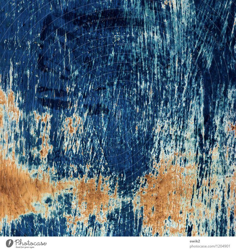 Juckreiz Kunst Kunstwerk Metall blau braun orange Verfall Vergänglichkeit Wandel & Veränderung Zerstörung Kratzspur Kratzer Spuren Zahn der Zeit verfallen