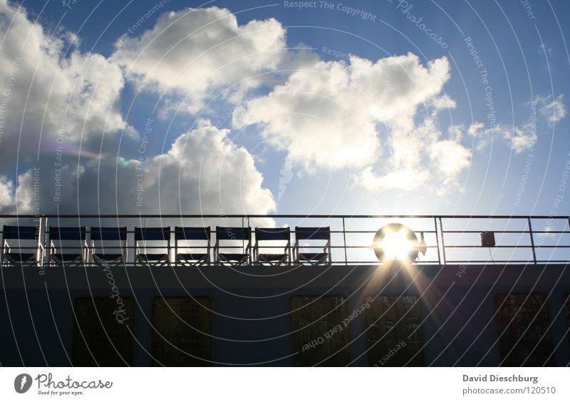 8 freie Plätze Himmel Sonne Meer blau Sommer Ferien & Urlaub & Reisen schwarz Wolken Fenster See Wasserfahrzeug Beleuchtung Glas fahren Fluss Stuhl