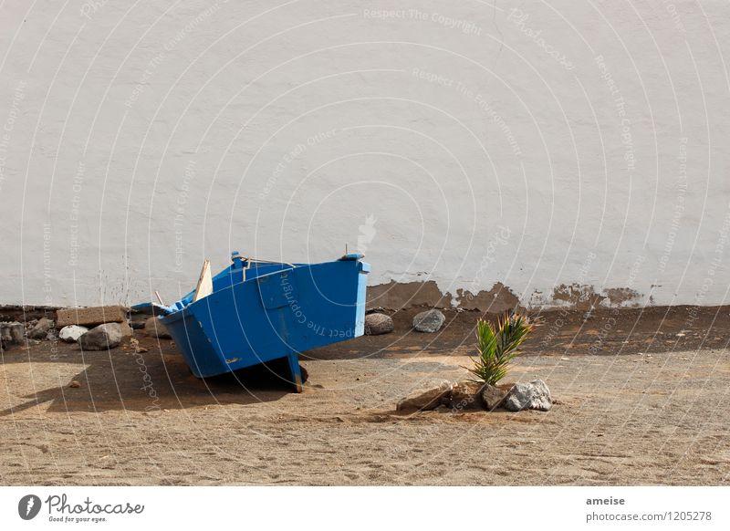 Ajuy Ferien & Urlaub & Reisen Sommer Meer ruhig Ferne Strand Wand Küste Mauer Glück Stein Sand Fassade Tourismus Erde Insel