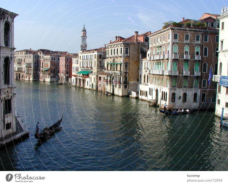 Vendig/Canale Grande Venedig Canal Grande Sommer Meer Haus Gondel (Boot) Italien Licht ruhig Stimmung Sonne Wasser blau Barock Venezia Architektur