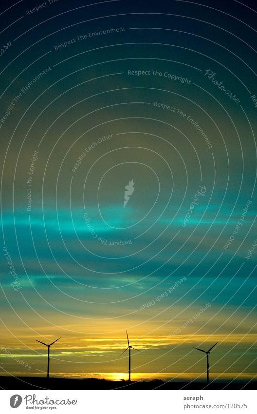 Windkrafträder Himmel Sonne Umwelt Energiewirtschaft Wind Energie Elektrizität Technik & Technologie Sauberkeit Tragfläche Windkraftanlage Konstruktion Umweltschutz ökologisch Umweltverschmutzung alternativ