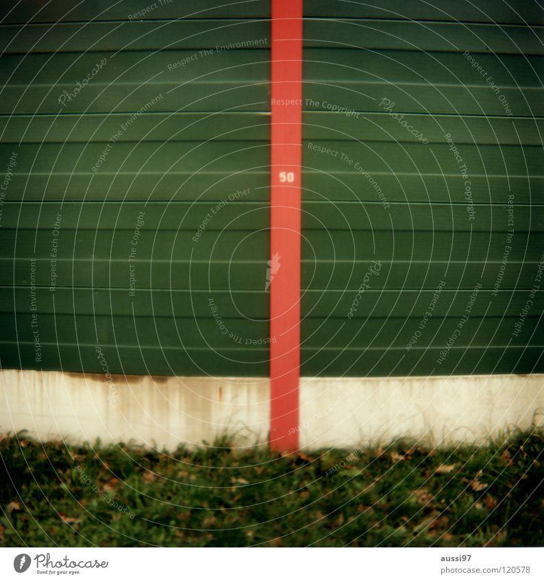 50 rund grün-rot Mittelformat Holga analog Lomografie fünfzig Geburtstagskarte 6x6