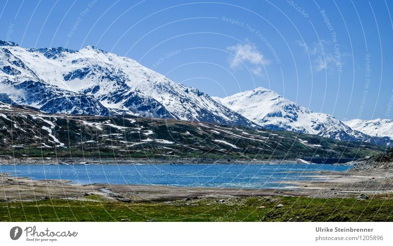 Naturbad 2 Himmel Ferien & Urlaub & Reisen blau grün Wasser weiß Landschaft kalt Berge u. Gebirge Umwelt natürlich Schnee See Felsen Tourismus