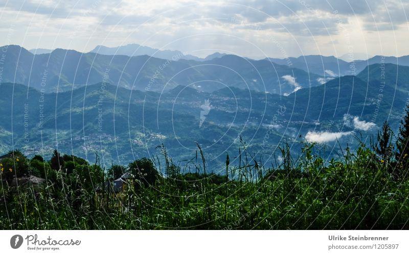 Italienische Bergwälder Himmel Natur Ferien & Urlaub & Reisen Pflanze grün Baum Einsamkeit Landschaft ruhig Wolken Ferne Wald Berge u. Gebirge Umwelt Gras