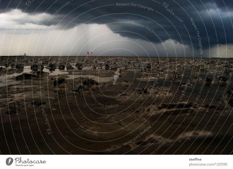 Life on Mars Leben Apokalypse Planet gefährlich untergehen Sturm Orkan trocken dehydrieren Regen Donnern Blitze blitzen Spaziergang wandern Wattwandern Meer