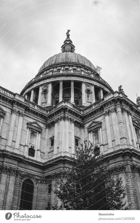 st. paul's cathedral Ferien & Urlaub & Reisen Tourismus Sightseeing Städtereise Kunst Kunstwerk Skulptur Architektur Baum London Stadt Hauptstadt Kirche Dom