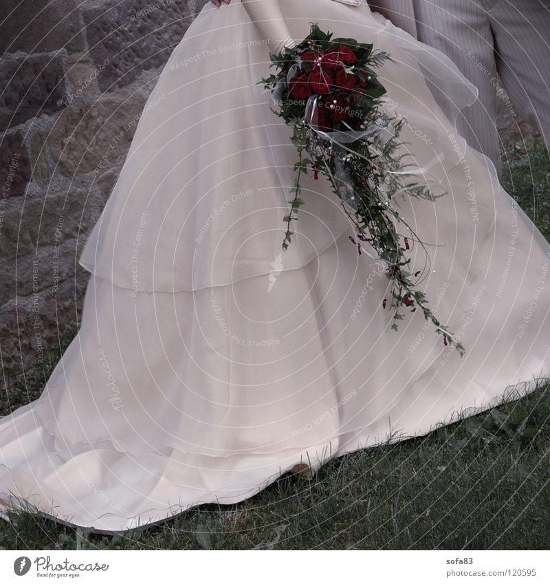 1/2 braut (1) Blume Hochzeit Rose Kleid Hälfte Braut Brautkleid