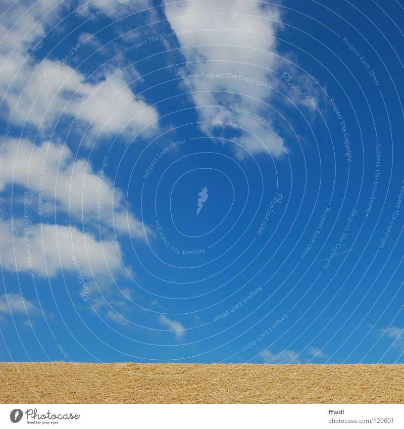 Sommer im Quadrat 1.1 Natur Himmel blau Wolken Landschaft trist einfach gerade sehr wenige