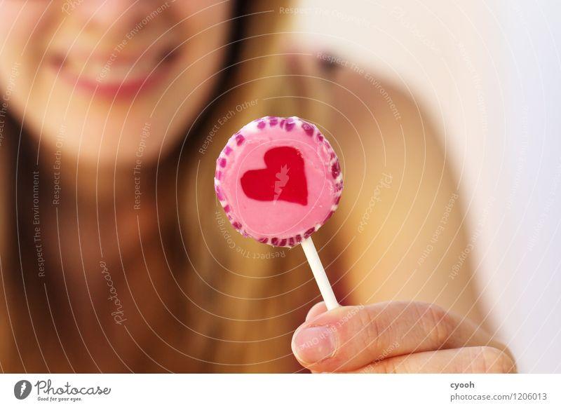 lolli <3 Süßwaren Lifestyle Freude Glück Sommer Sonne Lächeln lachen Fröhlichkeit lecker nah rund süß Wärme rosa Lebensfreude Vorfreude Farbe