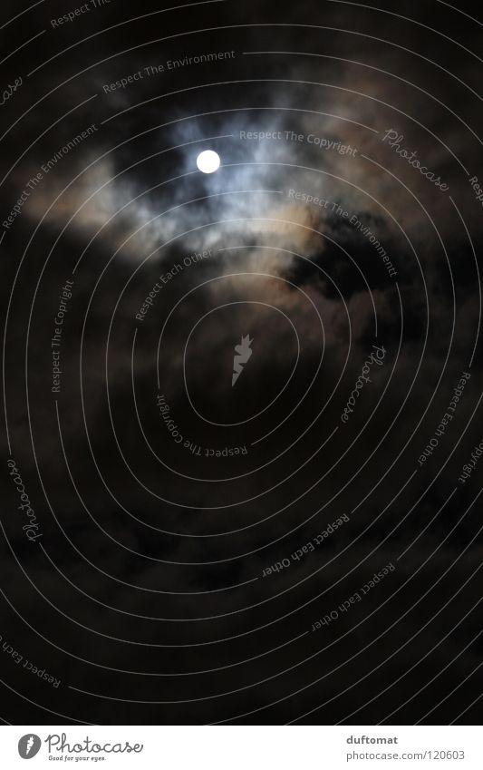 1000 und Eine... Raumfahrt Umwelt Himmel Wolken Nachthimmel Mond Vollmond Klima Wetter Unwetter Sturm Gewitter dunkel kalt friedlich Trauer Angst geheimnisvoll