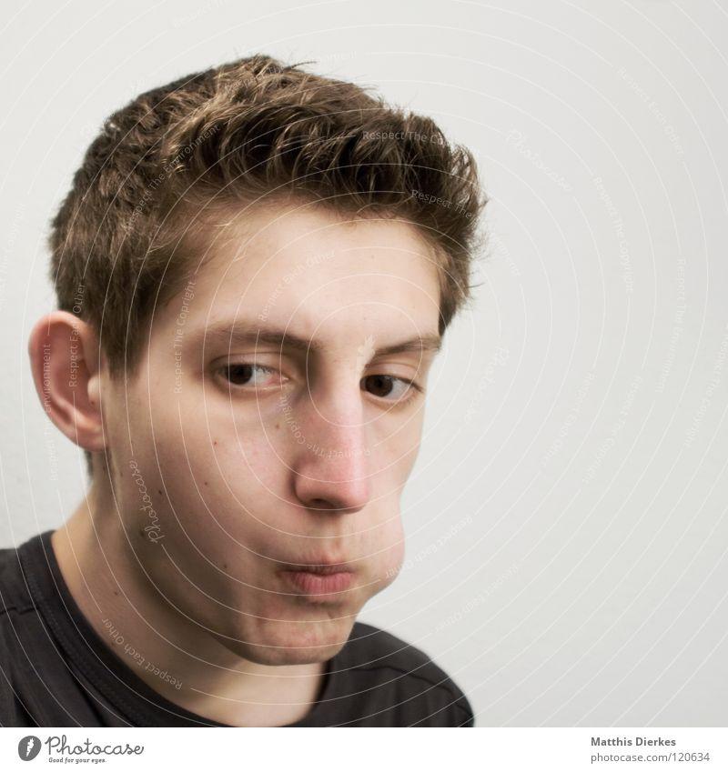 Anspielung Mensch Mann Jugendliche Gefühle Denken Nase lernen planen Körperhaltung Frieden Wut Konzentration ausdruckslos Langeweile Zunge Ärger