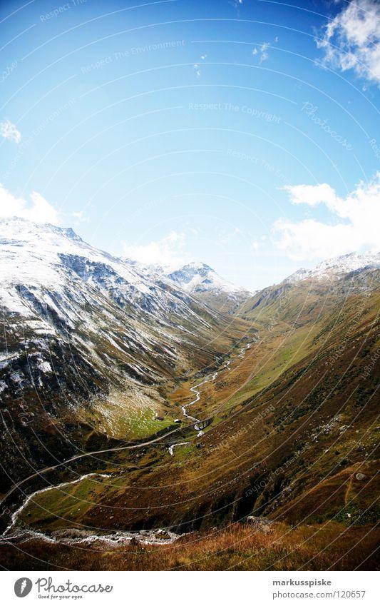 furkapass Wasser Ferien & Urlaub & Reisen Wolken Berge u. Gebirge Landschaft Wege & Pfade Stein See Eis Wetter Nebel wandern Felsen Freizeit & Hobby Schweiz