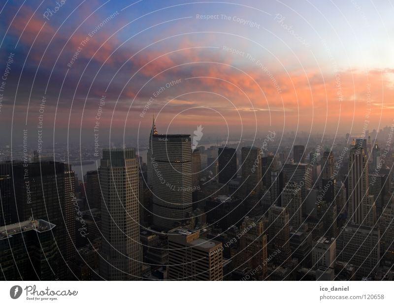 Midtown Manhattan II Himmel Stadt schön Wolken Ferne Hochhaus Energiewirtschaft Elektrizität USA Skyline Aussicht Amerika Stadtzentrum New York City Manhattan traumhaft
