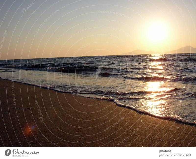 Sonnenuntergang auf Kos Wasser Meer Strand Ferien & Urlaub & Reisen Erholung Sand Küste Erde Freizeit & Hobby genießen