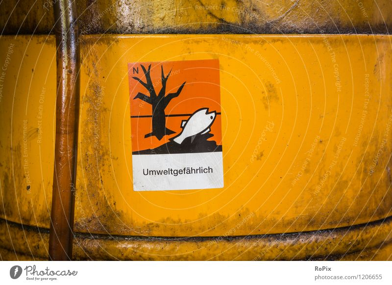 Umweltgefährlich Farbe Arbeit & Erwerbstätigkeit Energiewirtschaft Business Angst Schilder & Markierungen Schriftzeichen Technik & Technologie Hinweisschild