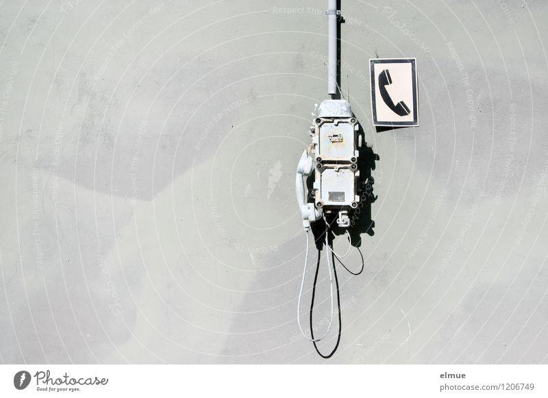 Dumbphone Medienbranche Telekommunikation Business Telefon High-Tech Informationstechnologie Beton Metall Zeichen Schilder & Markierungen Erholung hängen alt
