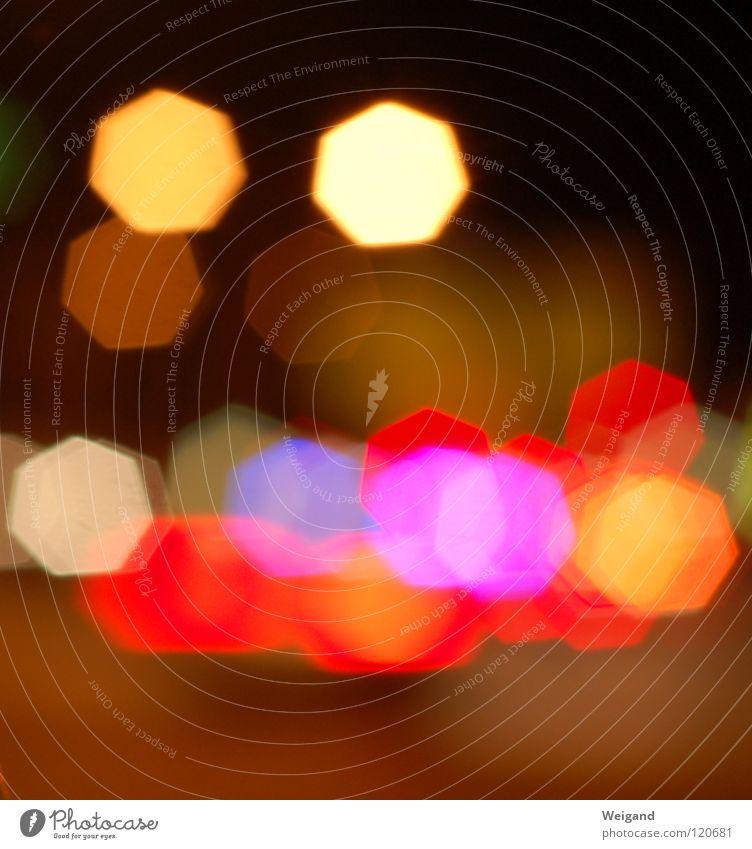 Funkelfunkel Licht Nacht Verkehr glänzend rot eckig rund Feuer Brand Stern (Symbol)