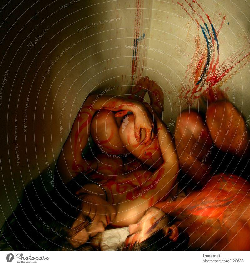 colourlovers Körpermalerei Liebe Bett Erotik Intimität Romantik berühren intensiv nackt freizügig Gefühle Zauberei u. Magie bezaubernd Zärtlichkeiten Explosion