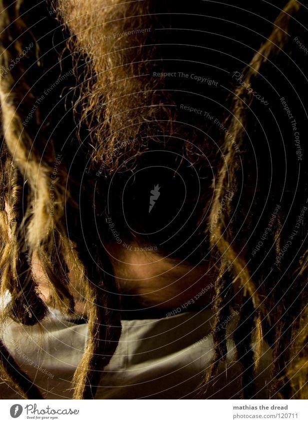--> HELLO-IT'S-MI-AGAIN-BULLET-BULLET-! <-- Mensch Mann dunkel Kopf Haare & Frisuren hell lustig Mund Haut maskulin bedrohlich Kommunizieren außergewöhnlich