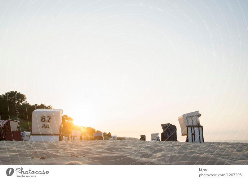Sonnenuntergangsplatz ll Ferien & Urlaub & Reisen Meer Strand Sand Tourismus Ostsee Strandkorb maritim