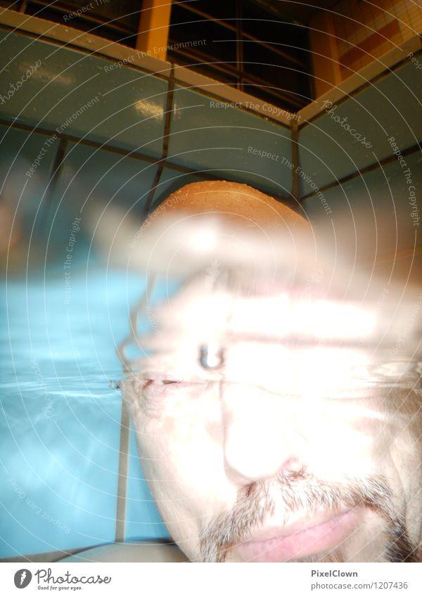 Was guckst du? Lifestyle Stil exotisch Ferien & Urlaub & Reisen Tourismus Schwimmen & Baden tauchen maskulin Mann Erwachsene Kopf 1 Mensch 45-60 Jahre Wasser