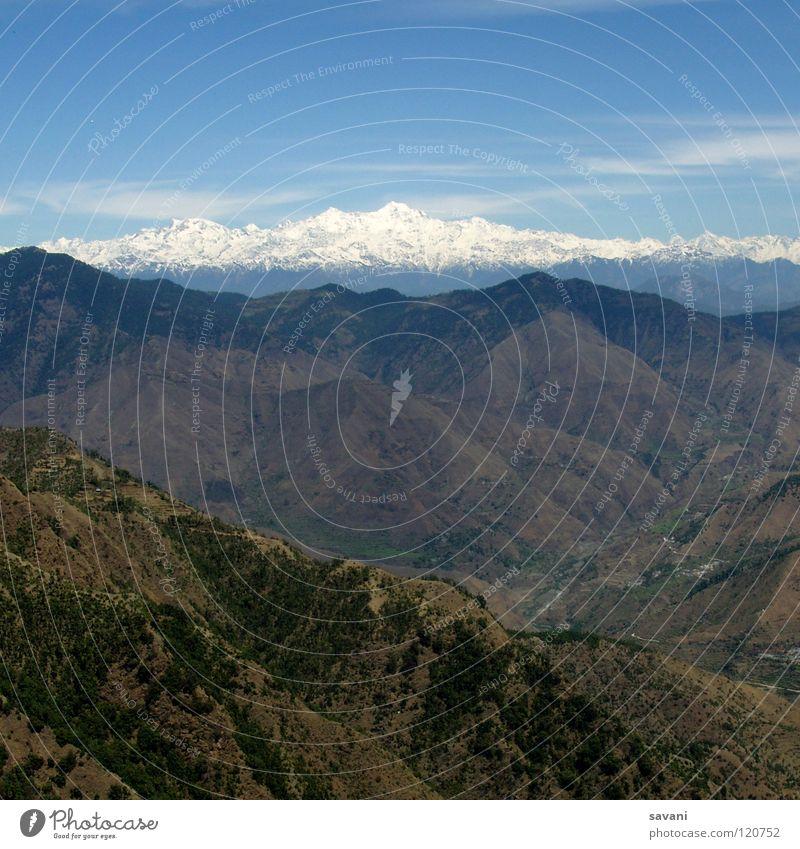 Himalaya I Natur schön Ferien & Urlaub & Reisen Schnee Berge u. Gebirge Landschaft hoch Klettern Asien Gipfel tief Indien Bergsteigen Gletscher Tal Berghang