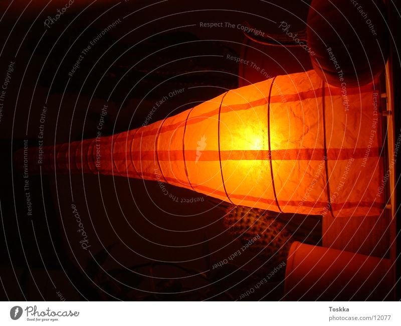 Orangelamp Lampe dunkel Stil orange Häusliches Leben Foyer Kaktus