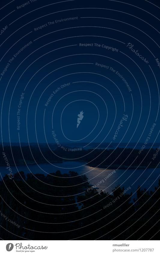 midsommar in södersverige ruhig Ferien & Urlaub & Reisen Ausflug Abenteuer Ferne Freiheit Sommer Sommerurlaub Landschaft Nachthimmel Küste beobachten Erholung