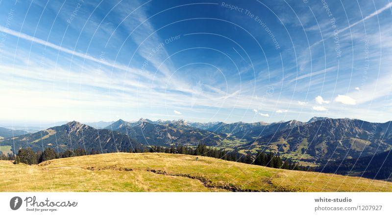 Himmelszeichnung Ferien & Urlaub & Reisen schön Sommer Sonne Erholung ruhig Wolken Ferne Berge u. Gebirge Freiheit Felsen Horizont Tourismus Feld Ausflug