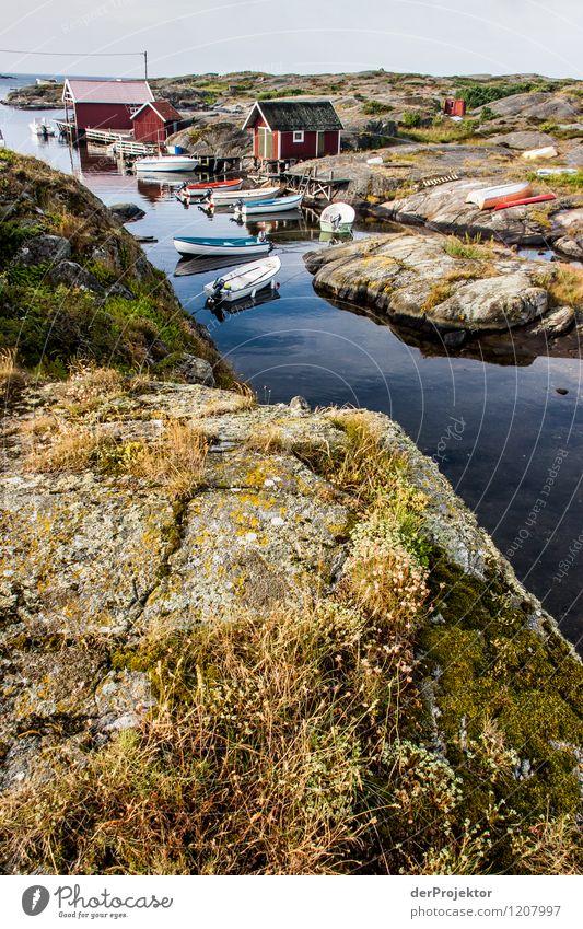 Fischereihafen auf Käringön Ferien & Urlaub & Reisen Tourismus Ausflug Freiheit Umwelt Natur Landschaft Pflanze Urelemente Sommer Schönes Wetter Felsen Wellen