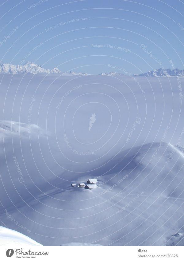 Himmelberg und Nebelschnee Himmel Winter ruhig Einsamkeit Schnee Berge u. Gebirge Nebelmeer
