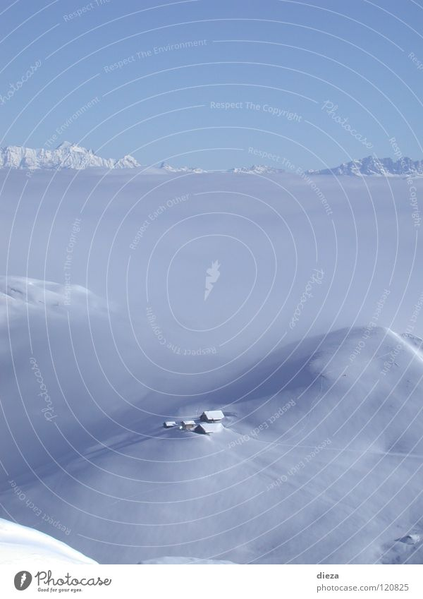 Himmelberg und Nebelschnee Winter ruhig Einsamkeit Schnee Berge u. Gebirge Nebelmeer