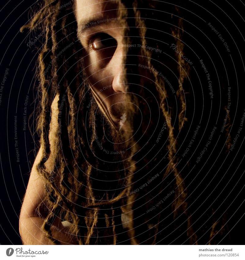 -->IT'S-MI-AGAIN--IST-DA-WER-?<-- Mensch Mann schön schwarz Gesicht dunkel Kopf Haare & Frisuren hell lustig Mund Haut maskulin außergewöhnlich bedrohlich