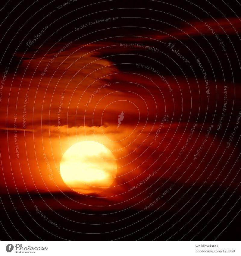 Sonne (mit Canon) Wolken Kraft Energiewirtschaft Romantik Sonnenenergie Himmelskörper & Weltall