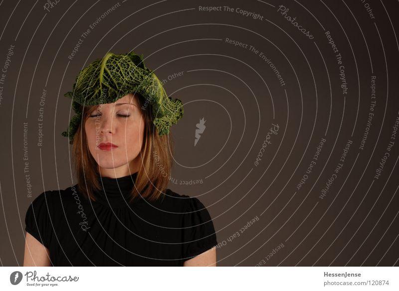 Person 12 Frau grün schön Einsamkeit Freude schwarz Gesicht Gefühle feminin Hintergrundbild Zeit Haare & Frisuren Deutschland sitzen warten geschlossen