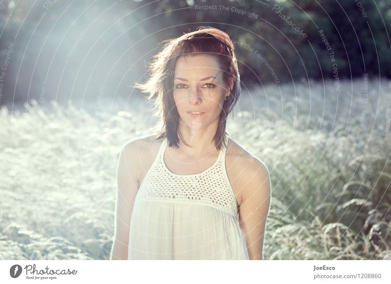 #1208860 Wohlgefühl Zufriedenheit Erholung Freiheit Sommer Sommerurlaub Sonne Frau Erwachsene Mensch Natur Landschaft Sonnenlicht Gras Feld beobachten träumen
