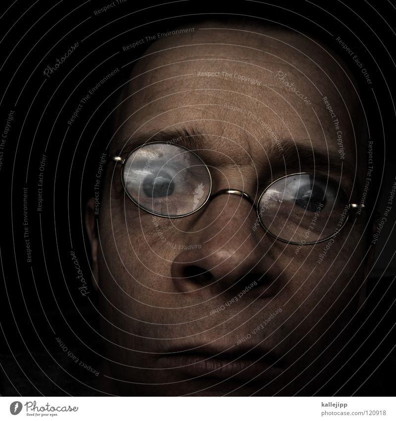 nasenfahrrad Brille über den Wolken Augenbraue Wimpern Optiker Tick Nasenloch atmen Gestell Reflexion & Spiegelung Glas Macht groß Spaßvogel Humor Fragen