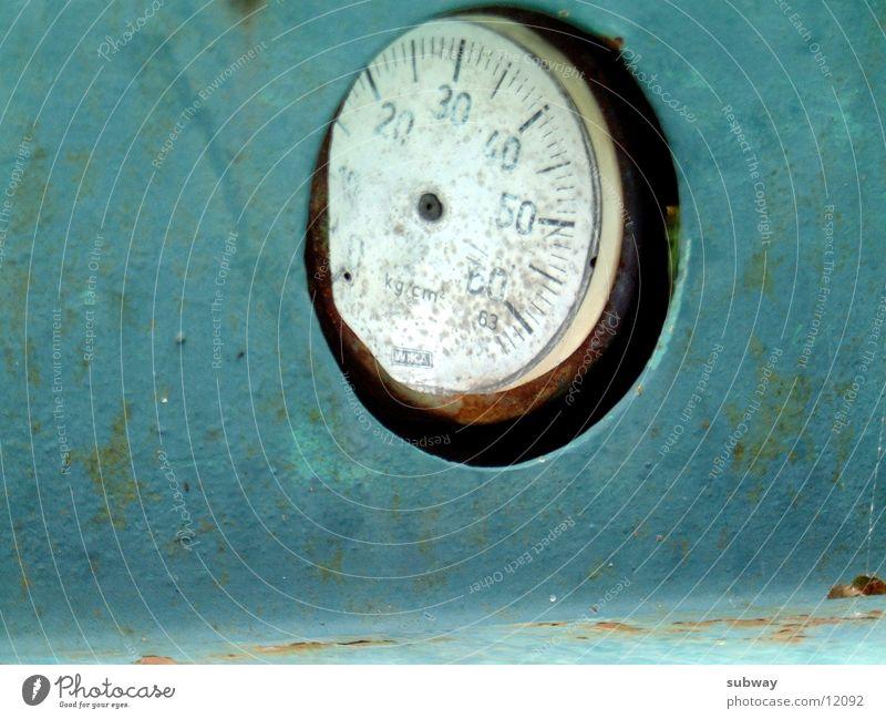 Weight Watcher blau alt grün Metall Uhr Technik & Technologie Rost Anzeige Bergbau gebraucht Mine Patina Elektrisches Gerät Musik
