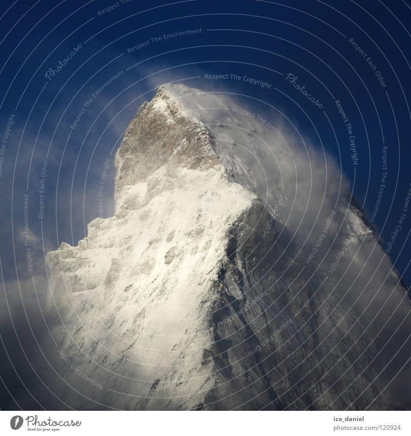 zuckerwatte? Himmel weiß blau Ferien & Urlaub & Reisen Wolken Schnee Berge u. Gebirge grau Stein Stimmung wandern Nebel Felsen Ausflug Europa Tourismus