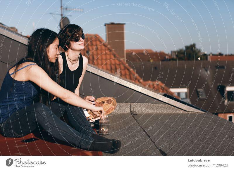 laissez simplement votre esprit ouvert et disponible Ferien & Urlaub & Reisen Stadt Gefühle feminin Stimmung Zusammensein Freundschaft träumen Zufriedenheit