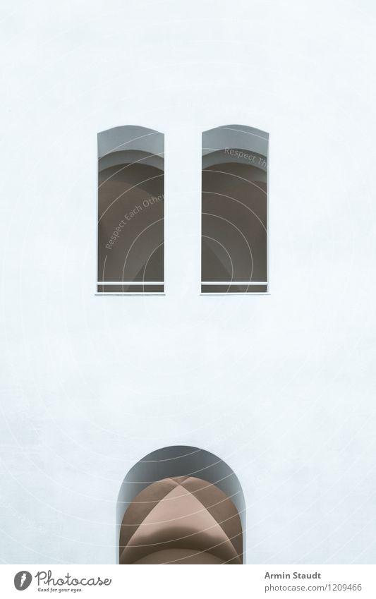 Sehr sachlich Stadt weiß Fenster Wand Architektur Stil Mauer Hintergrundbild grau Stimmung Lifestyle Fassade Design Ordnung Tür modern